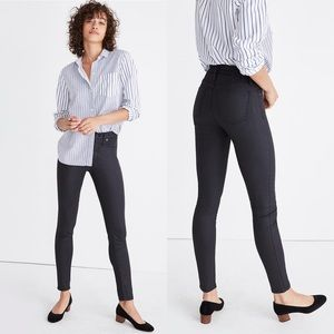Madewell Black Coated Skinny Jeans Long Length